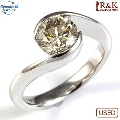 【送料無料】【中古】PT900 ダイヤモンドリング 指輪 D1.577 underS LB SI2 Good 鑑定書付き リメイクジュエリー プラチナ〔地金は新品〕おしゃれ レディース 女性 かわいい 可愛い オシャレ 価格見直し3005
