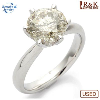 【送料無料】【中古】PT900 ダイヤモンドリング 指輪 D3.004 リメイクジュエリー プラチナ〔地金は新品〕 おしゃれ レディース 女性 かわいい 可愛い オシャレ 価格見直し0711