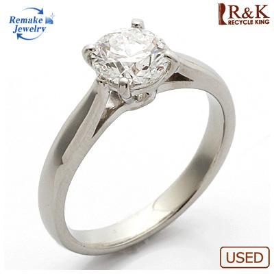 【送料無料】【中古】PT900 ダイヤモンドリング 指輪 D1.01 リメイクジュエリー プラチナ〔地金は新品〕 おしゃれ レディース 女性 かわいい 可愛い オシャレ 価格見直し0711