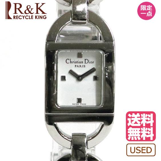 【送料無料】【中古】Christion Dior パンディオラ D78-108 腕時計 ウォッチ シルバー ディオール レディース メンズ おしゃれ かわいい ギフト プレゼント