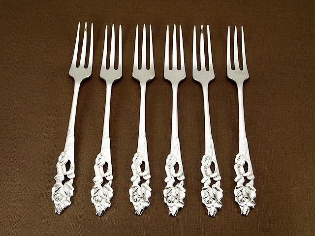 【送料無料】【中古】銀製 フォーク6本セット カトラリー シルバー