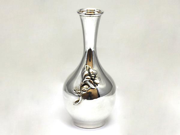 【送料無料】【中古】シルバー925 一輪挿し 銀 花瓶 花挿し