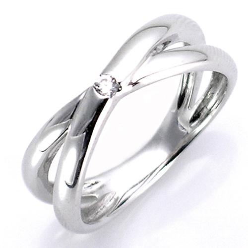 【送料無料】【新品】◎K10WG K10PG K10YG ダイヤエックスラインピンキーリング 10金 | リング 指輪 10k おしゃれ ピンキーリング k10 ホワイトゴールド ピンクゴールド イエローゴールド ダイヤモンド ダイアモンドリング ダイヤ ダイヤモンドリング レディース