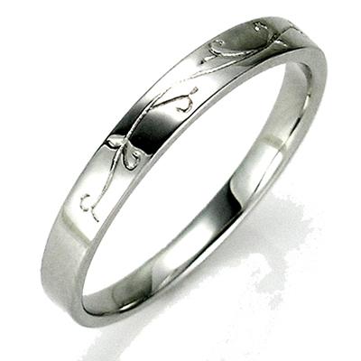 【送料無料】【新品】K10 K10WG K10PG アラベスクデザインペアリング 指輪 メンズ 10金 かわいい 可愛い オシャレ 唐草 ボタニカル