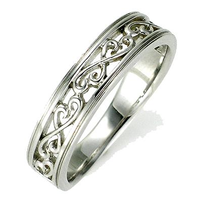 【送料無料】【新品】K10 K10WG K10PG 透かし模様ペアリング 指輪 メンズ 10金 かわいい 可愛い オシャレ