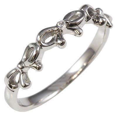【送料無料】【新品】K10WG K10PG トリプルリボンピンキーリング 指輪 10金 ファランジリング  おしゃれ レディース 女性 かわいい 可愛い オシャレ