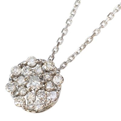 【送料無料】【新品】K18WG ダイヤペンダント 18金 おしゃれ レディース 女性 かわいい 可愛い オシャレ
