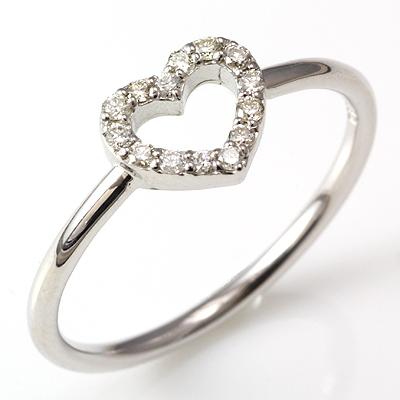 【送料無料】【新品】K10 K10WG K10PG ダイヤハートリング 指輪 10金 おしゃれ レディース 女性 かわいい 可愛い オシャレ