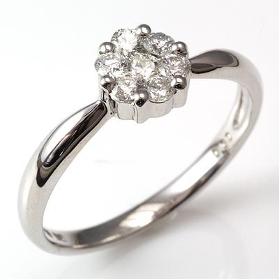 【送料無料】【新品】K18 K18WG K18PG セブンダイヤリング 指輪 18金 おしゃれ レディース 女性 かわいい 可愛い オシャレ
