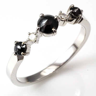 【送料無料】【新品】K18 K18WG K18PG ブラックダイヤリング 指輪 18金 おしゃれ レディース 女性 かわいい 可愛い オシャレ
