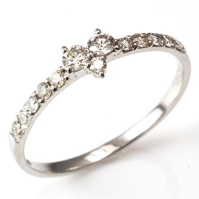 【送料無料】【新品】K18 K18WG K18PG ダイヤハートハーフエタニティリング 指輪 18金 おしゃれ レディース 女性 かわいい 可愛い オシャレ