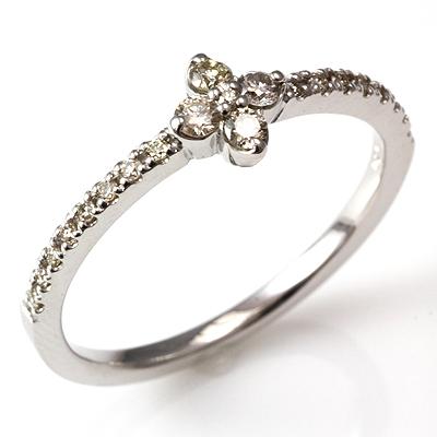 【送料無料】【新品】K18 K18WG K18PG ダイヤフラワーハーフエタニティリング 指輪 18金 おしゃれ レディース 女性 かわいい 可愛い オシャレ