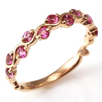 【送料無料】【新品】K18PG ピンクトルマリンリング 指輪 18金 おしゃれ レディース 女性 かわいい 可愛い オシャレ
