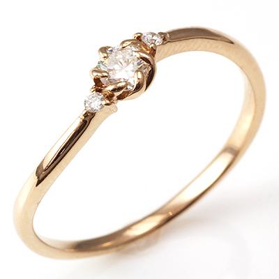 【送料無料】【新品】K18PG ダイヤデザインリング 指輪 18金 おしゃれ レディース 女性 かわいい 可愛い オシャレ