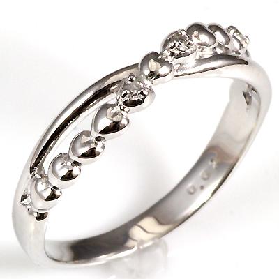【送料無料】【新品】K10 K10PG K10WG ハートエックスラインピンキーリング 指輪 10金 ファランジリング  おしゃれ レディース 女性 かわいい 可愛い オシャレ