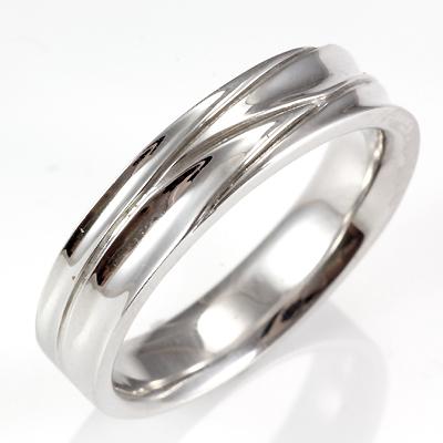 【送料無料】【新品】; K10WG リング 指輪 10金 ホワイトゴールド レディース メンズ おしゃれ かわいい シンプル 15号