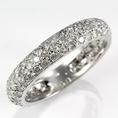 【送料無料】【新品】【即納】◎K14WG ダイヤリング D1.00 14金