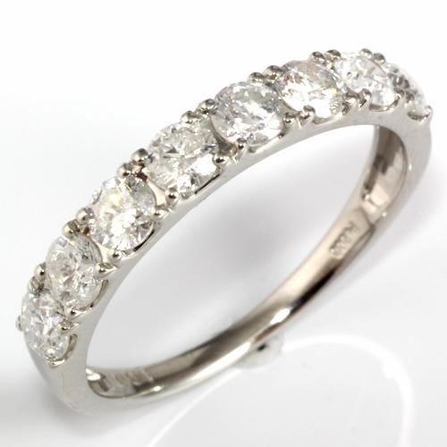 【送料無料】【新品】PT900 ダイヤモンドリング 指輪 ハーフエタニティ D1.00 1ct プラチナ おしゃれ レディース 女性 かわいい 可愛い | リング ダイヤモンド ハーフエタニティリング ダイヤ ダイアモンド ダイアモンドリング ダイヤリング