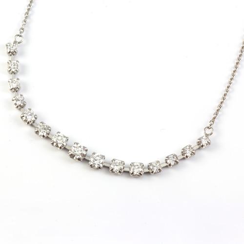 【送料無料】【新品】K18WG ダイヤモンドペンダントネックレス D0.50 0.5ct 18金 おしゃれ レディース 女性 かわいい 可愛い オシャレ