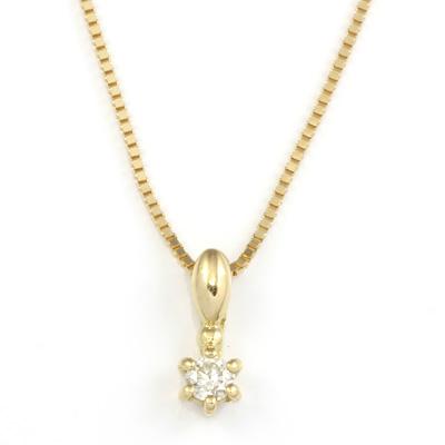 【送料無料】【新品】K10YG K10WG 一粒 ダイヤモンド ネックレス D0.03ct 10金 K18 おしゃれ レディース 女性 かわいい 可愛い オシャレ ダイヤネックレス シンプル 華奢 アクセサリー アクセ ギフト プレゼント