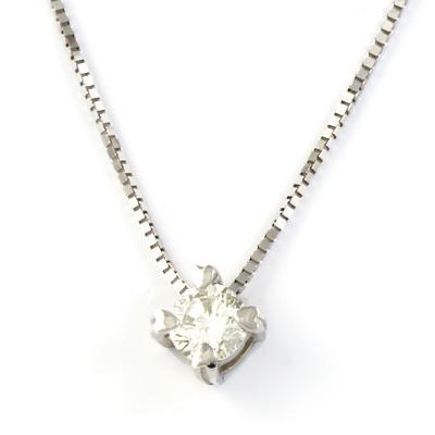 【送料無料】【新品】K10WG 一粒ダイヤモンドハートネックレス D0.1ct 10金 K18WG おしゃれ レディース 女性 かわいい 可愛い オシャレ