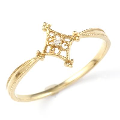 【送料無料】【新品】K10 ダイヤモンドRAYリング 指輪 D0.01ct 10金 おしゃれ レディース 女性 かわいい 可愛い オシャレ
