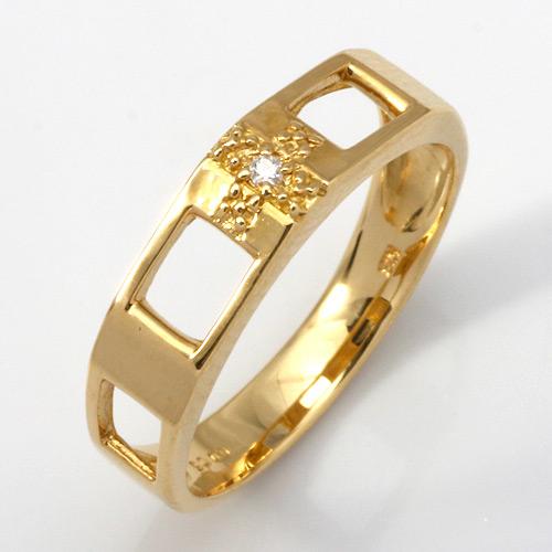 【送料無料】【新品】K10 ダイヤクロスピンキーリング 指輪 (K18へ変更可)十字架 D0.006 10金 18金 おしゃれ レディース 女性 かわいい 可愛い オシャレ
