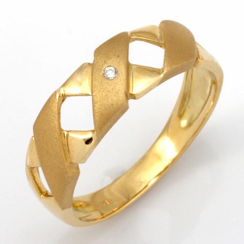 【送料無料】【新品】K10 ダイヤピンキーリング 指輪 (K18へ変更可) 10金 18金 おしゃれ レディース 女性 かわいい 可愛い オシャレ