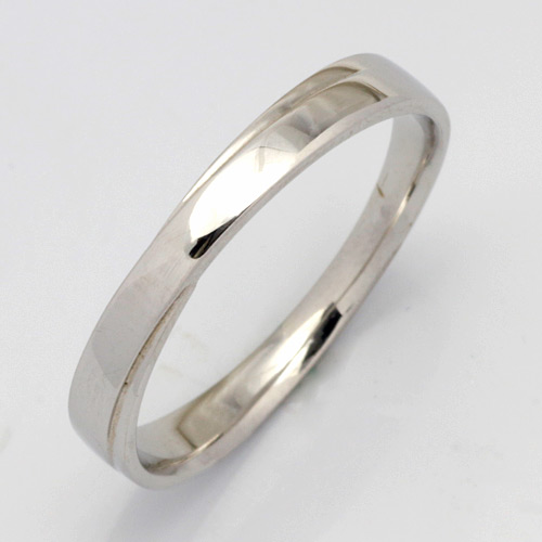 【送料無料】【新品】K10WG シンプルリング 指輪 (K18WG・PT900も可)女性用 交差 クロス エックス マリッジリング 指輪 結婚指輪 10金 18金 プラチナ おしゃれ レディース 女性 かわいい 可愛い オシャレ