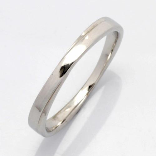 【送料無料】【新品】K10WG シンプルリング 指輪 (K18WG・PT900も可)男性 かっこいい 用 交差 クロス エックス マリッジリング 指輪 結婚指輪 10金 18金 プラチナ かわいい 可愛い オシャレ