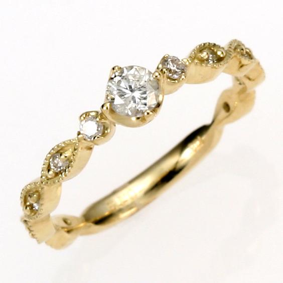 【送料無料】【新品】□ K18 ダイヤモンド ピンキーリング 指輪 18金 ファランジリング ゴールド おしゃれ レディース 女性 かわいい カワイイ オシャレ