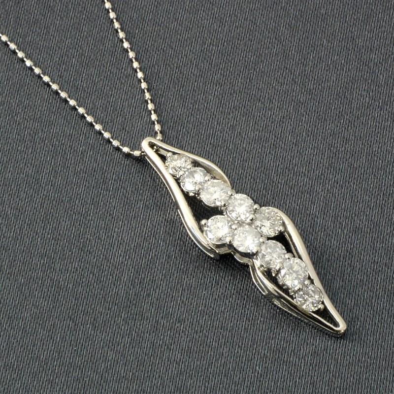 ダイヤペンダントネック7(1.0ct) プレゼント ネックレス ギフトに ダイヤ ペンダント プラチナ