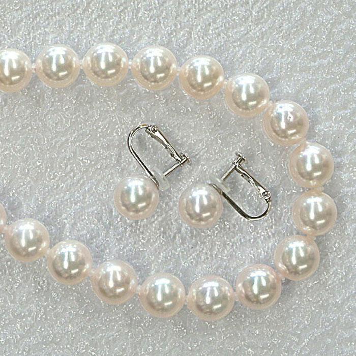 花珠級 あこや真珠 パール ネックレス セット(8.5-9)【冠婚葬祭】【フォーマル】【結婚式】 本真珠