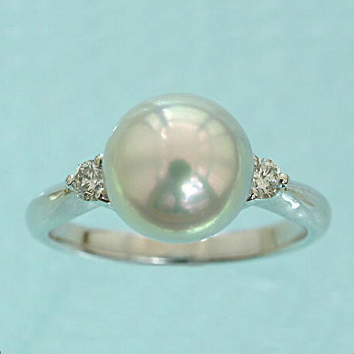 Pt900 あこや真珠 パール リング (ナチュラル) プラチナ 本真珠 パール 指輪 リング