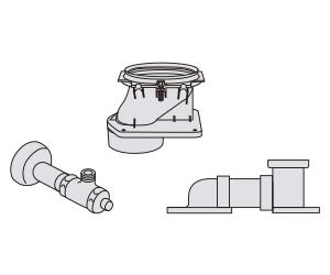 【CH140FM】 《TKF》 パナソニック アラウーノSII専用配管セット 床排水マルチタイプ ωα0