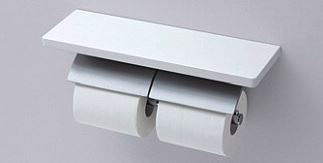 【YH63KM】 《TKF》 TOTO ペーパーホルダー 棚付二連紙巻器 マットタイプ 芯棒固定タイプ ωγ0
