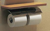 【YH63KSS】 《TKF》 TOTO ペーパーホルダー 棚付二連紙巻器 めっきタイプ 芯棒固定タイプ ωγ0