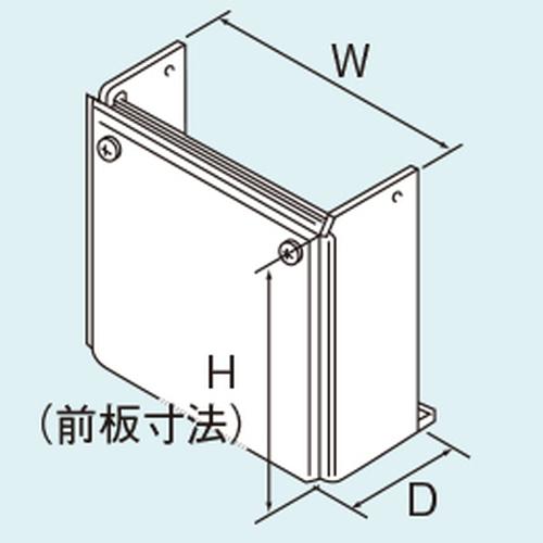 【WOP-4101(K)-750】 《TKF》 リンナイ 配管カバー H730×W700×D231.5 ωα0