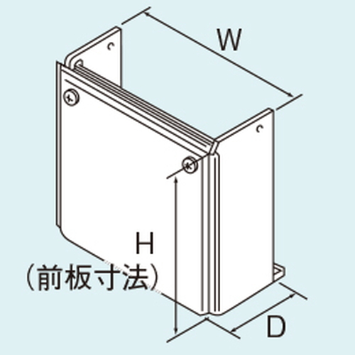 【WOP-4101Z(K)-750】 《TKF》 リンナイ 配管カバー H730×W700×D231.5 ωα0
