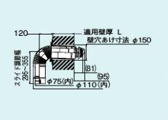 【FFT-6UL-400】 《TKF》 リンナイ 給排気筒トップ(直排専用) ωα0