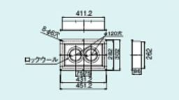 【FFT-DKC-10】 《TKF》 リンナイ 給排気筒トップ断熱化粧カバー ωα0