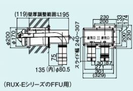 【FFTL-8US-400】 《TKF》 リンナイ 2本管直出し給排気筒トップ ωα0