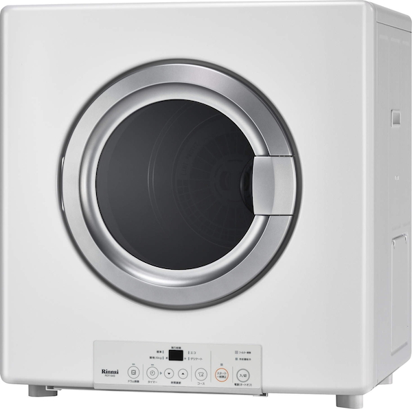 【RDT-54S-SV】 《TKF》 リンナイ ガス衣類乾燥機 乾太くん スタンダード 5.0kg ガスコード接続タイプ 左右可変ドア ωα1