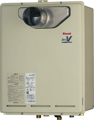 【RUX-V3201T】 《TKF》 リンナイ 給湯専用ガス給湯器 32号 PS扉内設置型/前排気 従来型 ωα0