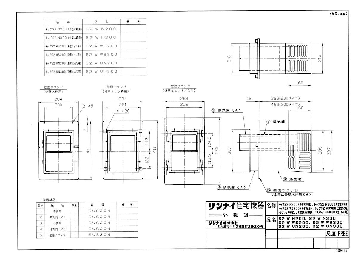 【S2 W N300】 《TKF》 リンナイ ふろがまオプション [20-2476] ωα0