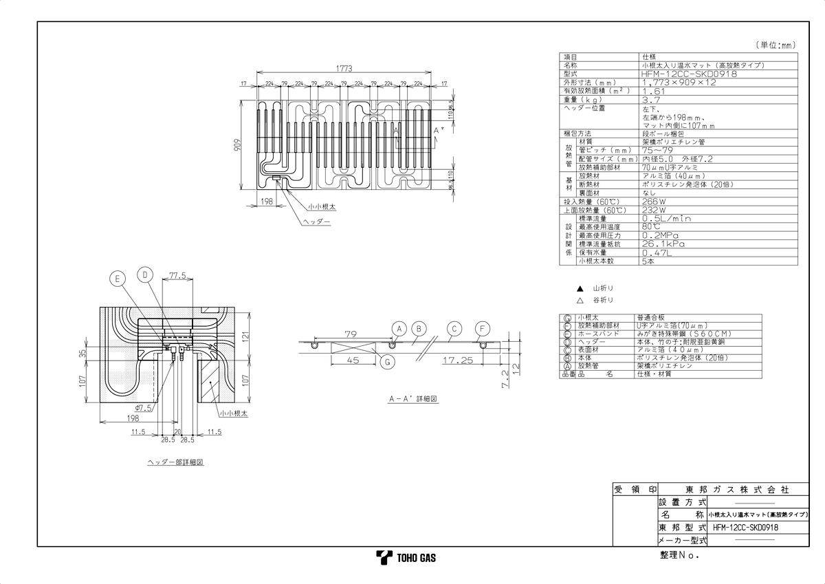 【HFM-12CC-SKD0918】 《TKF》 リンナイ リンナイ 《TKF》 温水式床暖房マット ωα0 ωα0, BADASS:d5bc7ea2 --- officewill.xsrv.jp