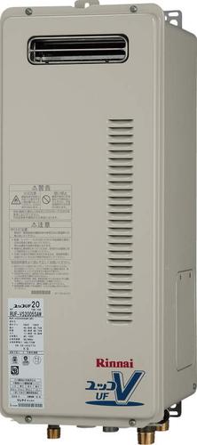 【RUF-VS2005AW】 《TKF》 リンナイ ガス給湯器 20号 スリムタイプ 屋外壁掛型 フルオート ωβ0