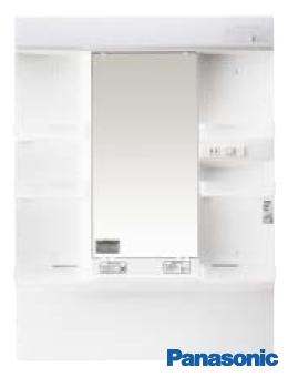 【GQM75K1NMK】 《TKF》 パナソニック 洗面化粧台 エムライン ミラーキャビネット 蛍光灯1面鏡 750幅 ωκ2