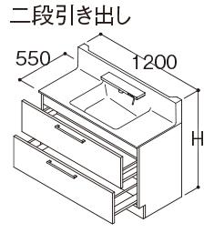 【LMFA120A3SHC1GLDSFA120CC◆B(N/S)1A】《TKF》TOTO洗面化粧台オクターブ幅1200mm2段引き出しスウィング3面鏡ワイドLEDωα1