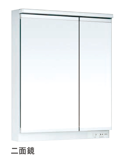 【LMWB060B2GLG2G】 《TKF》 TOTO 洗面化粧台 サクア ミラーキャビネット 600mm 2面鏡 LED 高さ1800mm対応 ωα1
